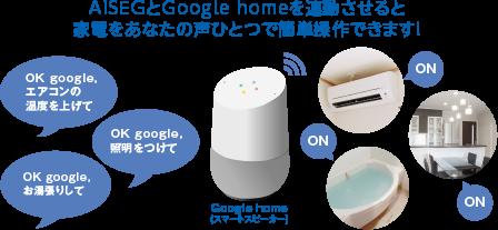 AiSEGとGoogle home